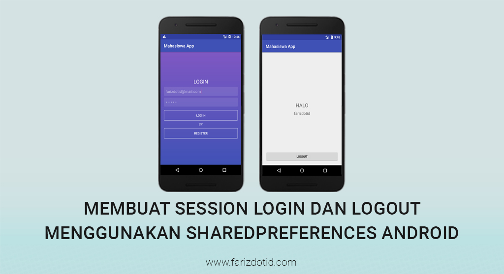 Membuat Session Login Logout Menggunakan SharedPreferences Android