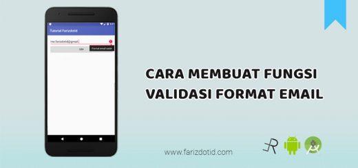 cara membuat fungsi validasi format email - farizdotid