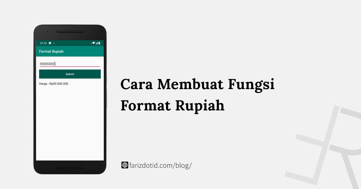 Cara Membuat Format Rupiah di Android
