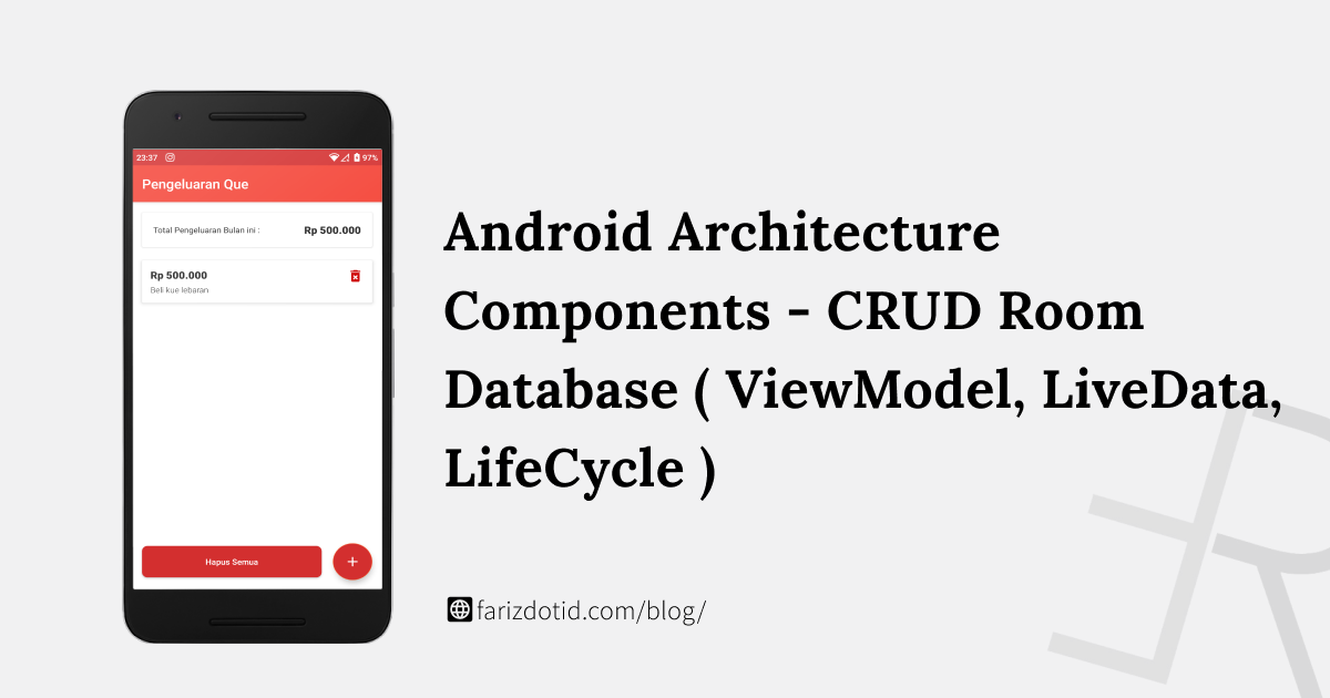 CRUD Menggunakan Room Database (ViewModel, Lifecycle, LiveData)