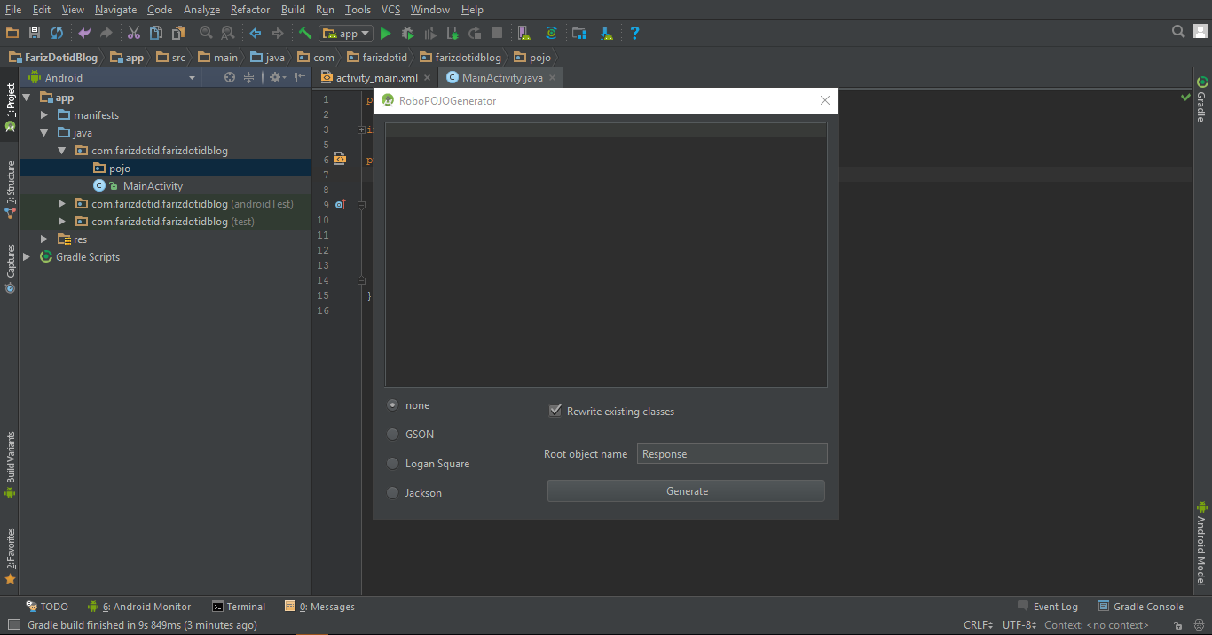 Cara Install Plugin RoboPOJOGenerator di Android Studio