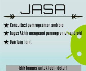 Jasa Konsultasi Pemrograman Android