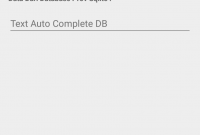 Tutorial Membuat AutoCompleteTextview dan Database Sqlite - 2