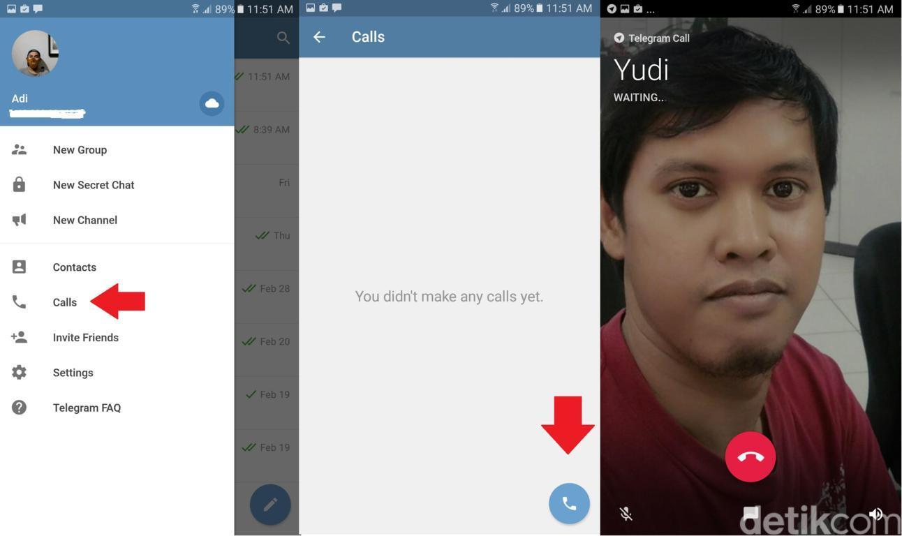 Tips Cara Telepon Melalui Aplikasi Telegram untuk Android