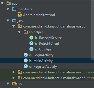 Tutorial Login dan Register Menggunakan Retrofit2 dan API Server 1