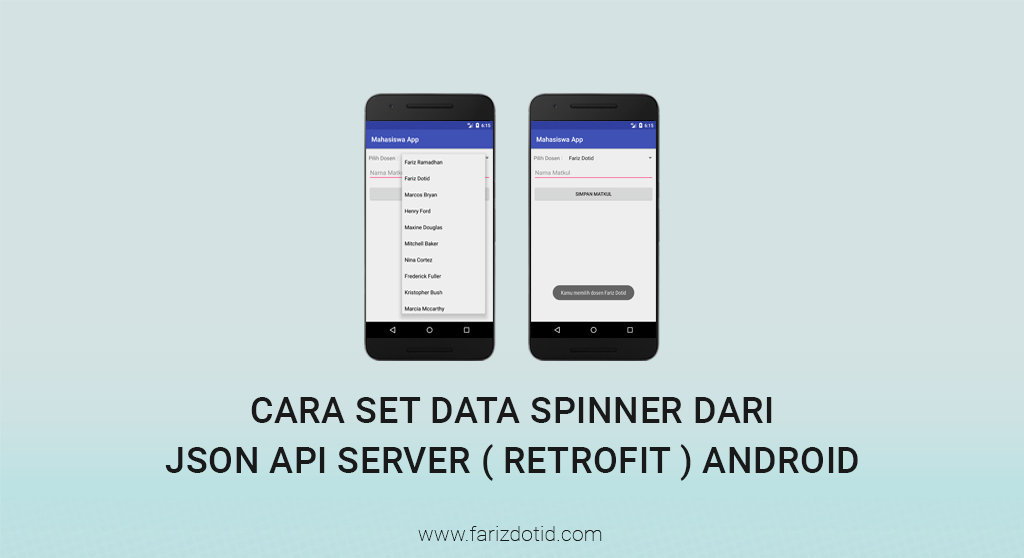 Cara Set Data Spinner dari Json API Server ( Retrofit ) Android