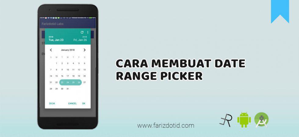 cara membuat date range picker android