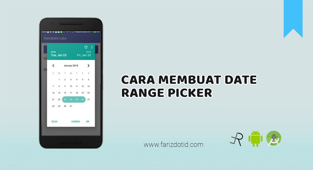 cara membuat date range picker android
