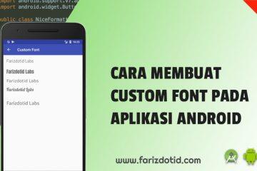 cara membuat custom font android