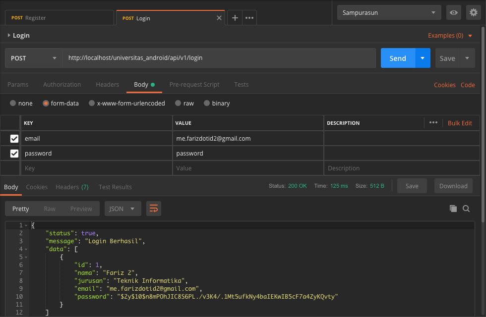 Cara Membuat API Login Register Dengan SLIM Framework - 5