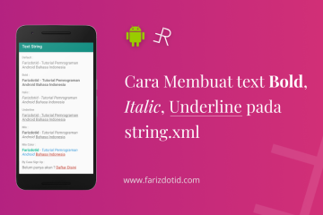Cara Membuat Text Bold Italic Underline di strings.xml